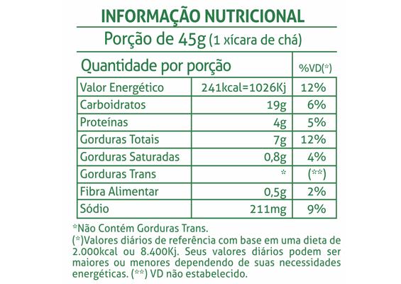 11 - Informação Nutricional Bolacha Vitadeisy