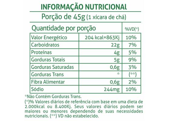 13 - Informação Nutricional Bolacha Tradição