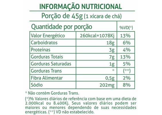 14 - Informação Nutricional Bolacha Manteiga