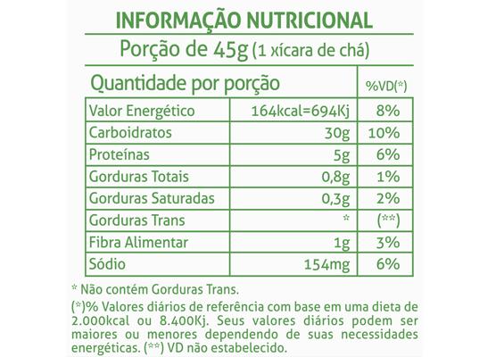 5 - Informação Nutricional Biscoito Doce Vitacoco