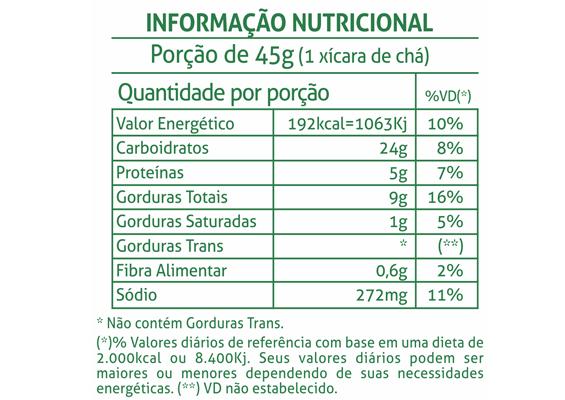 6 - Informação Nutricional Bolacha Delícia