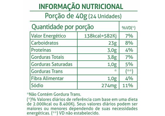 7 - Informação Nutricional Biscoito Gomete