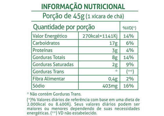 9 - Informação Nutricional Bolacha Vitalita